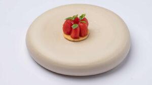 Τάρτα με μπισκότο γραβιέρας και ντοματίνια
